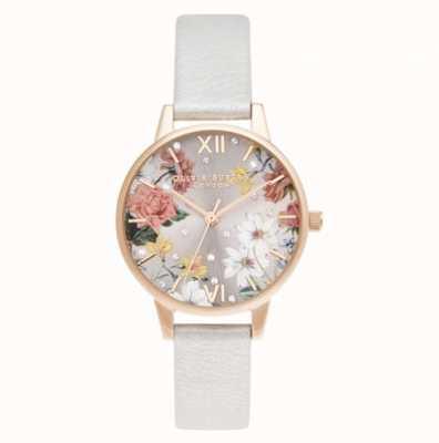 Olivia Burton Midi | Pale Rose Gold | Shimmer Pearl Strap OB16BF29