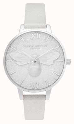 Olivia Burton | Glitter Demi Dial | Pearl Bee Shimmer Watch | OB16FB20