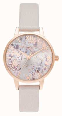 Olivia Burton Midi Pearl Pink & Rose Gold Abstract Floral Dial OB16VM47