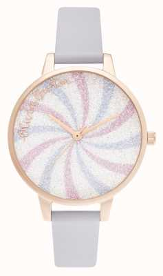 Olivia Burton Glitter Lolly Demi Dial Parma Violet & Rose Gold OB16CD03