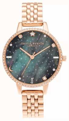 Olivia Burton Northern Lights Demi Dial Rose Gold Bracelet OB16GD66