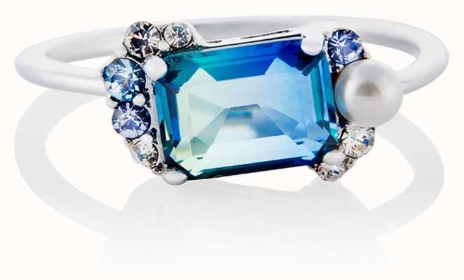 Olivia Burton Under The Sea Bi Colour Tourmaline Bubble Ring Silver (M) OBJSCR18B