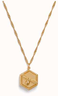 Olivia Burton Lucky Bee Locket Necklace Gold OBJAMN82