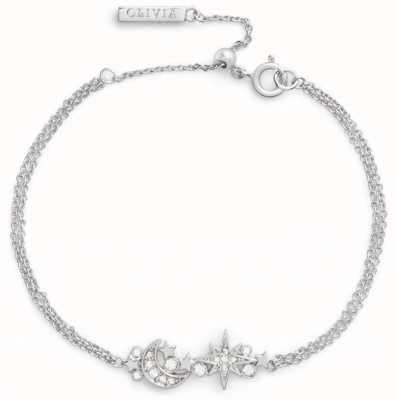 Olivia Burton Celestial Chain Bracelet Silver OBJCLB15
