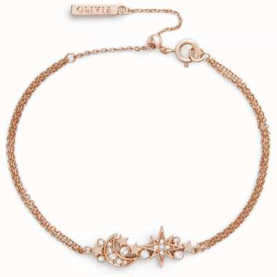 Olivia Burton Celestial Chain Bracelet Rose Gold OBJCLB17