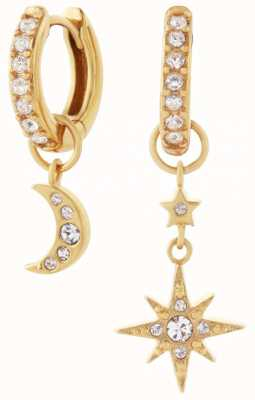 Olivia Burton Celestial Moon & North Star Huggie Hoops Gold OBJCLE39