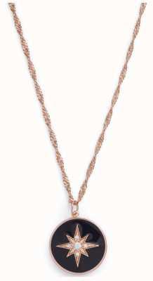 Olivia Burton Celestial Enamel Pendant Black & Rose Gold OBJCLN09