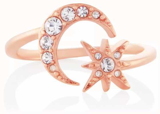 Olivia Burton Celestial Moon And Star Ring Rose Gold OBJCLR15