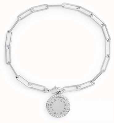 Olivia Burton Bejewelled Classics Disc Chain Bracelet Silver OBJCOB37