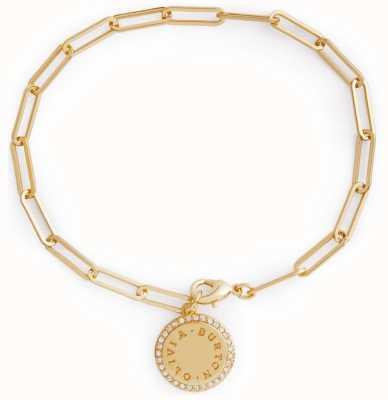 Olivia Burton Bejewelled Classics Disc Chain Bracelet Gold OBJCOB38