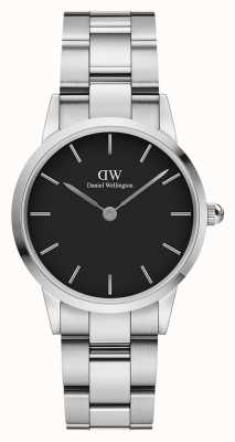 Daniel Wellington Iconic Link 28mm Stainless Steel Black Dial DW00100208