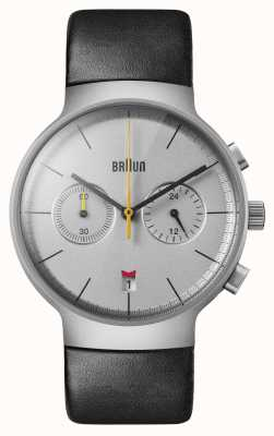 Braun Men's | Classic | Chronograph | Black Leather BN0265SLBKG