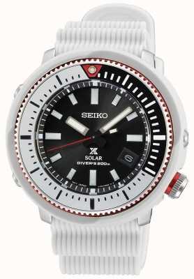 Seiko Prospex Gents Solar Watch | White Silicone Strap SNE545P1