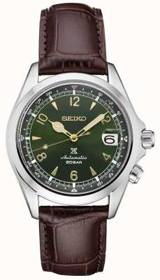 Seiko Prospex Gents Mechanical Alpinist | Brown Leather Strap SPB121J1