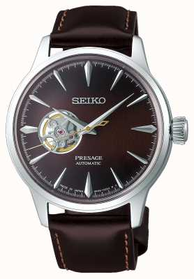 Seiko Presage Gents Mechanical   Brown Calf Skin Leather Strap   SSA407J1