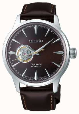 Seiko Presage Gents Mechanical | Brown Calf Skin Leather Strap | SSA407J1