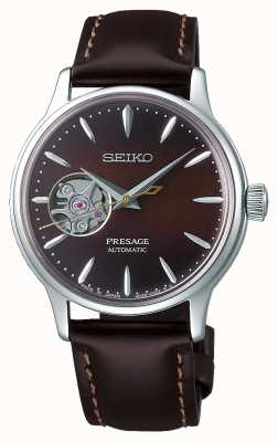 Seiko | Presage Ladies Mechanical | Brown Calf Leather |Brown Dial SSA783J1