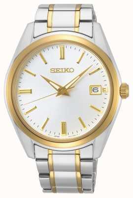 Seiko | Conceptual Gents Quartz | Two-Tone Bracelet | Silver Dial SUR312P1