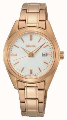Seiko Conceptual Ladies Quartz | Rose Gold Steel Bracelet SUR630P1