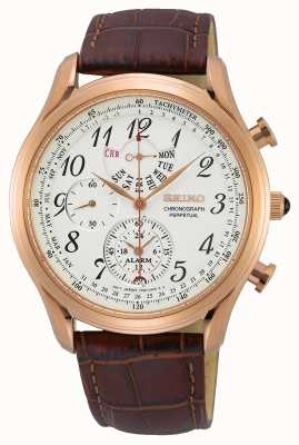 Seiko Conceptual Gents Quartz | Tan Leather Strap | Cream Dial SPC256P1
