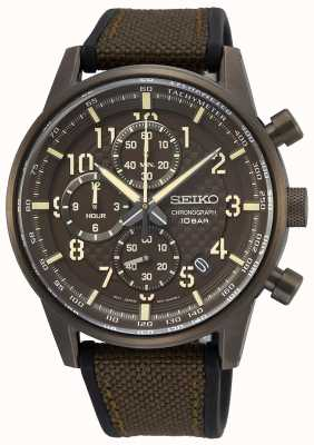 Seiko | Conceptual Gents Quartz | Military Brown Rubber Strap | SSB371P1