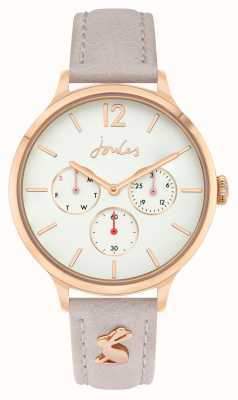 Joules Women's | Pink Leather Strap | White Dial | JSL001ERG