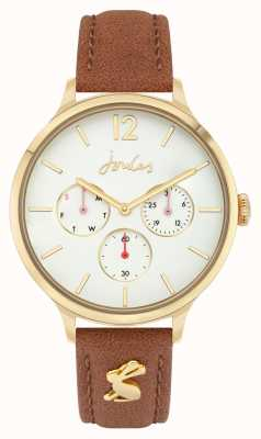 Joules Women's | Brown Leather Strap | White Dial JSL001T