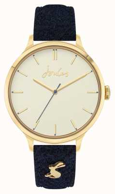 Joules Women's | Blue Fabric/Leather Strap | Cream Dial JSL014UG