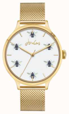 Joules Women's | Gold PVD Mesh | White Bee Dial JSL030GM