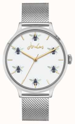 Joules Women's | Stainless Steel Mesh | White Bee Dial JSL030SM