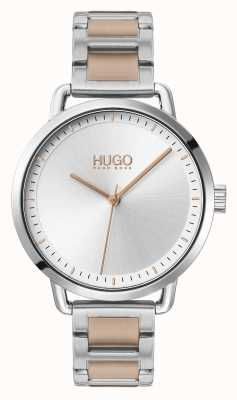 HUGO #MELLOW | Two-Tone Steel Bracelet | Silver Dial | 1540057