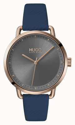 HUGO #MELLOW | Blue Leather Strap | Grey Dial | 1540054