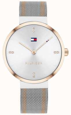 Tommy Hilfiger | Women's Liberty | Two-Tone Mesh Bracelet | White Dial | 1782221