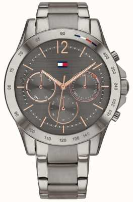 Tommy Hilfiger Haven | Grey Ion-Plated Bracelet | Gunmetal Dial 1782196