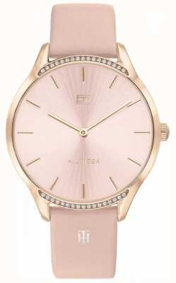 Tommy Hilfiger | Women's Gray | Pink Leather Strap | Pink Dial | 1782215