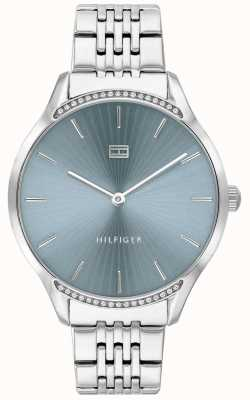 Tommy Hilfiger | Women's Gray | Stainless Steel Bracelet | Blue Dial | 1782210