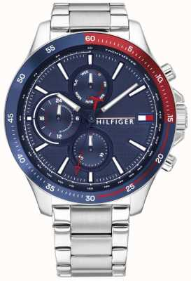Tommy Hilfiger Bank | Stainless Steel Bracelet | Blue Dial | 1791718