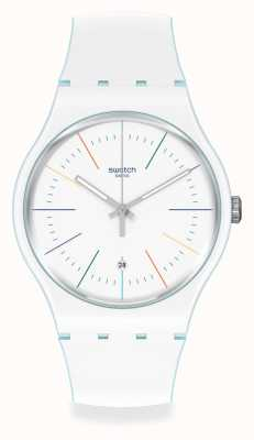 Swatch | Original New Gents | White Layered Watch | SUOS404
