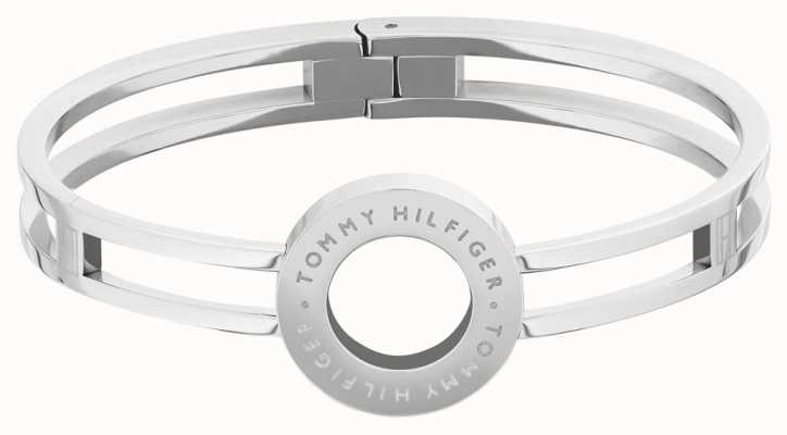 Tommy Hilfiger | Dressed Up | Women's Circle Silver Tone Bangle | 2780314