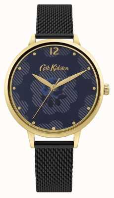 Cath Kidston Black Mesh Strap | Blue Floral Dial CKL095GBM