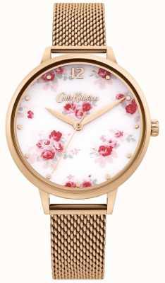 Cath Kidston | Women's Rose Gold Mesh Strap | White Floral Dial CKL095RGM