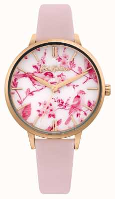 Cath Kidston FLORAL/BIRD PRINTED DIAL | PINK LEATHER STRAP | CKL106PRG