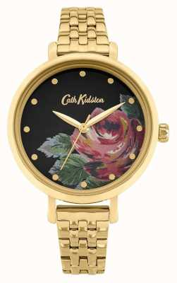 Cath Kidston | Women's Oxford | Gold Plated Steel Bracelet | Floral Dial CKL087GM