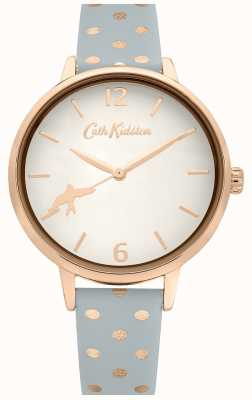 Cath Kidston GREY POLKA DOT LEATHER STRAP | WHITE DIAL | CKL088E
