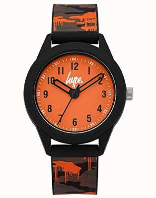 Hype | Grey/Orange Camo Silicone Strap | Orange Dial | HYK009NO