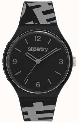 Superdry MATT BLACK DIAL | BLACK/GREY SILICONE STRAP | SYG294BE