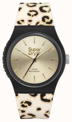 Superdry BRUSHED CHAMPAGNE DIAL | LEOPARD PRINT STRAP | SYG299GB
