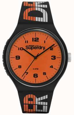 Superdry | Urban XL Racing | Blue Multi-Coloured Silicone | Orange Di SYG269BO