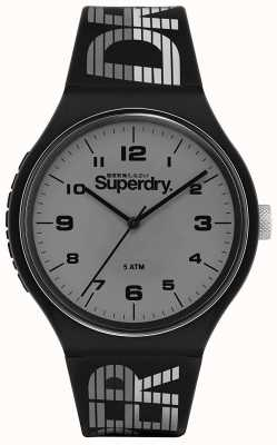 Superdry | Urban XL Racing | Black Silicone Strap | Grey Dial | SYG269BE