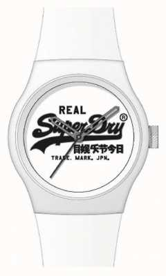"Superdry WHITE SILICONE STRAP | WHITE ""SUPERDRY"" DIAL 